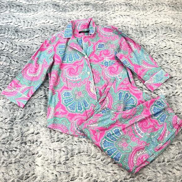 25bb08f7d20 Ralph Lauren All Over Paisley Capri Pajama Set. M 5b5bf72a15379524fb65ec00